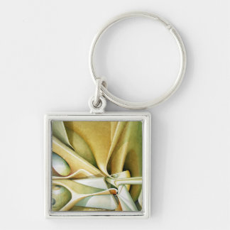 Light of Time Silver-Colored Square Key Ring