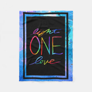 Light One Love Blanket With Blue Background