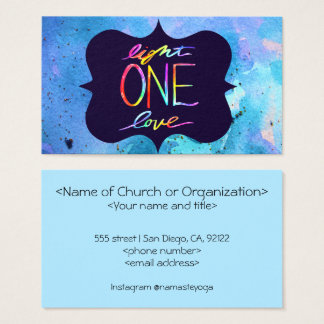 Light One Love Religious Buisness Card