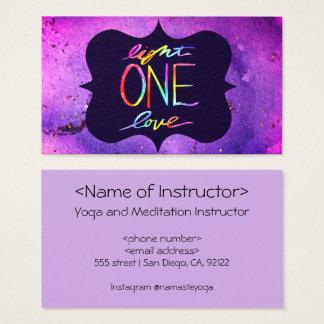 Light One Love Spiritual Buisness Card