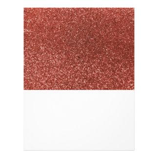 Light orange glitter 21.5 cm x 28 cm flyer