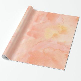 Light Orange Peach Watercolor Wrapping Paper
