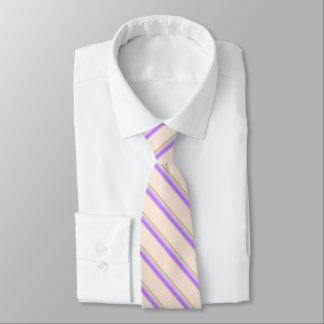 Light Orange Tie With Stripes