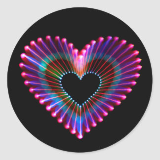 light painted heart sticker