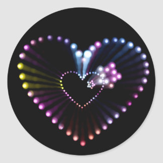 light painting heart sticker
