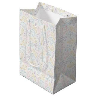 Light Pastel Diamonds Pattern Medium Gift Bag
