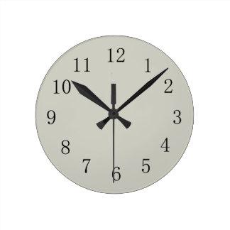 Light Pastel Grey Round (Medium) Wall Clock