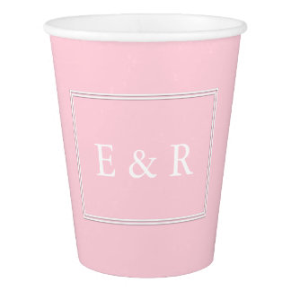 Light Pastel Pink Wedding Decorations Paper Cup