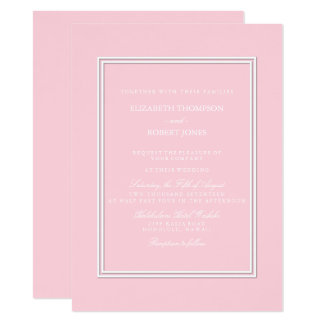 Light Pastel Pink Wedding Invitation Set