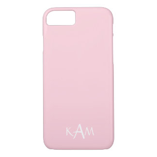 Light Pastel Pink Wedding Party Set iPhone 7 Case
