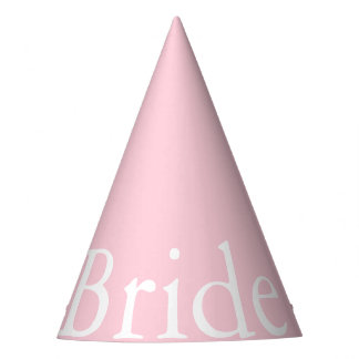 Light Pastel Pink Wedding Party Set Party Hat