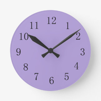 Light Pastel Purple Kitchen Wall Clock