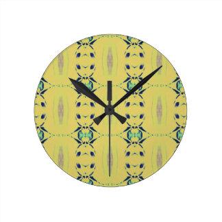Light Pastel Yellow Seamless Pattern Clock