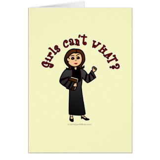 Light Pastor Girl Greeting Card