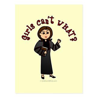 Light Pastor Girl Post Cards