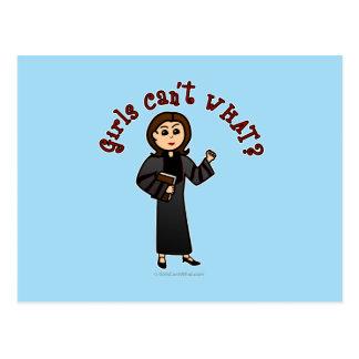 Light Pastor Girl Postcards