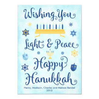 Light & Peace Happy Hanukkah Card
