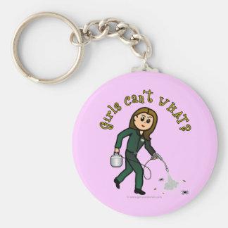 Light Pest Control Girl Keychain