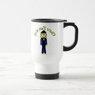 Light Pilot Girl Travel Mug