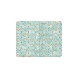 Light pink and Aqua Maroccan pattern Pocket Moleskine Notebook