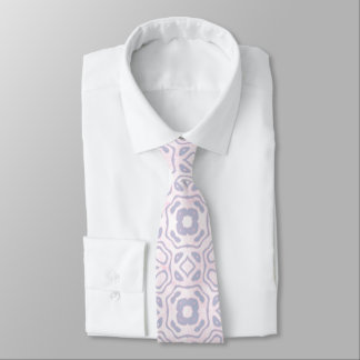 Light Pink and Blue Pattern Tie