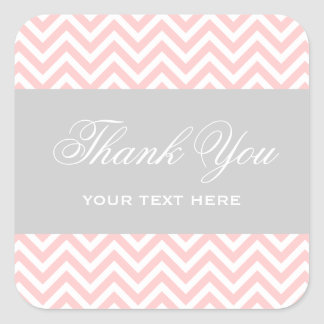 Light Pink and Gray Modern Chevron Stripes Sticker