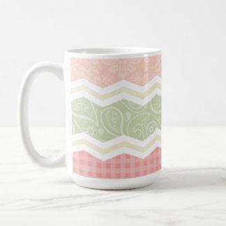 Light Pink and Green  Cute Patterns Coffee Mugs