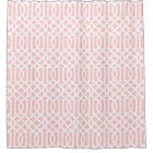 Light Pink and White Trellis Shower Curtain