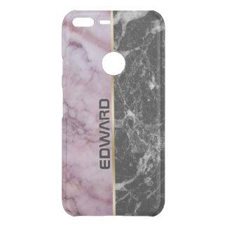 Light Pink & Black Marble Stone Uncommon Google Pixel XL Case