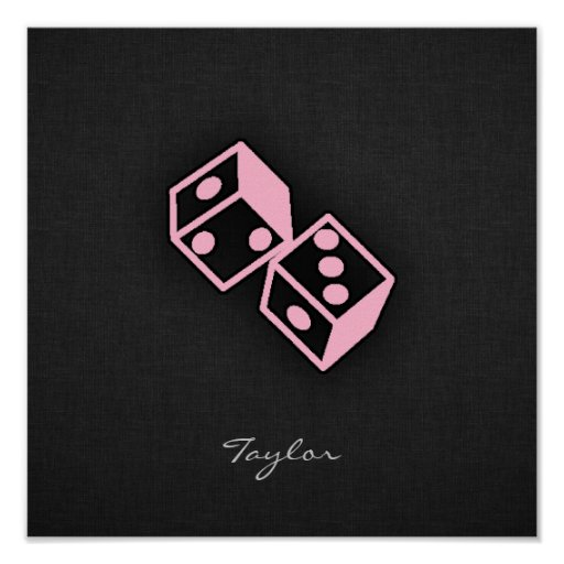 Light Pink Casino Dice Print