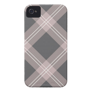 light pink & charcoal grey plaid Case-Mate iPhone 4 case