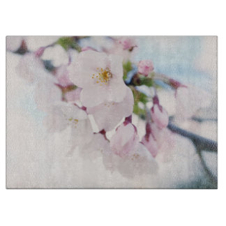 Light Pink Cherry Blossoms Cutting Board