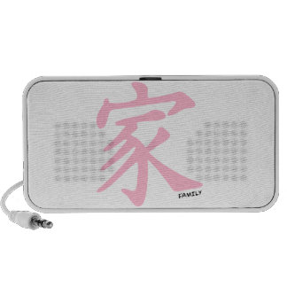 Light Pink Chinese Family Character Travel Speakers