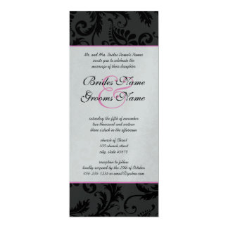 Light Pink Damask Swirls Wedding Invitations