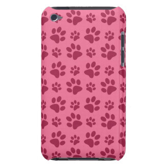 Light pink dog paw print pattern barely there iPod cover