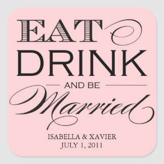 Light Pink Eat, Drink | Stickers