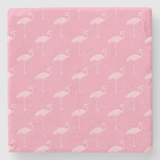 Light Pink Flamingo Tropical Flamingos Stone Coaster