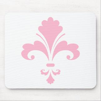 Light Pink Fleur-de-lis Mouse Pad