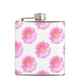 Light pink gerbera daisy flask