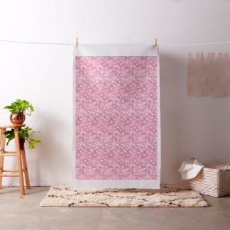 Light Pink Ginkgos and Flowers Fabric