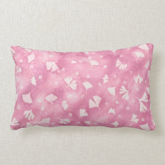 Light Pink Ginkgos and Flowers Pillow