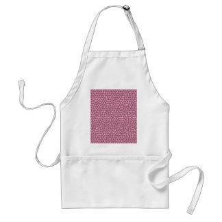 light pink giraffe skin standard apron