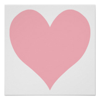 Light Pink Heart Poster