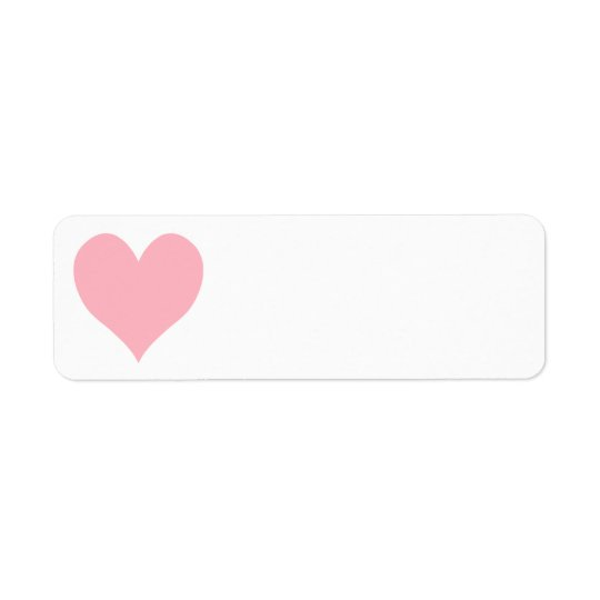 Light Pink Heart Return Address Label