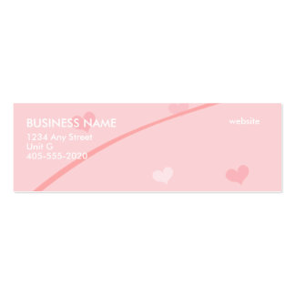 Light pink hearts mini business cards