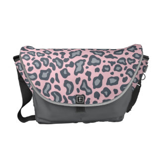 Light Pink Leopard Messenger Bag