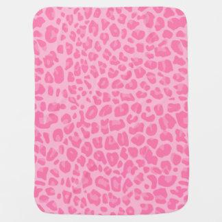 Light pink leopard print pattern swaddle blankets
