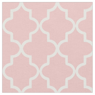 Light Pink Moroccan Quatrefoil Fabric