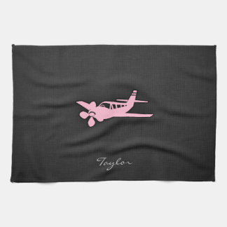 Light Pink Plane Tea Towel