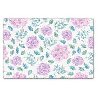 Light Pink & Purple Flowers Pattern Tissue Paper